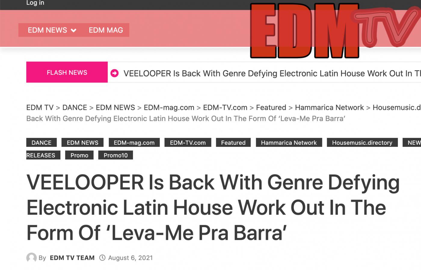 Leva-me pra Barra on EDM TV Blog