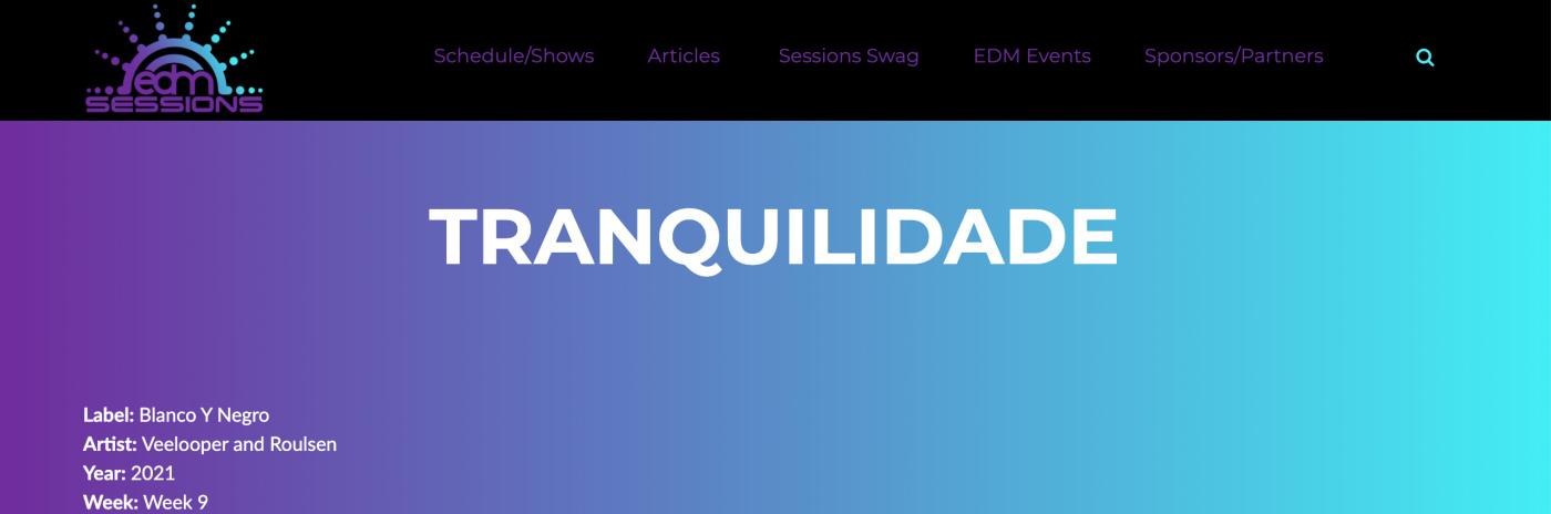 Tranquilidade on Radio EDM Sessions